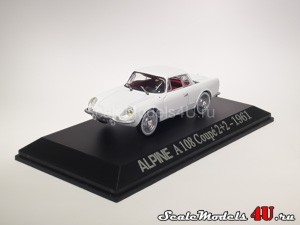 Scale model of Renault Alpine A108 Coupe 2+2 (1961) produced by Universal Hobbies.