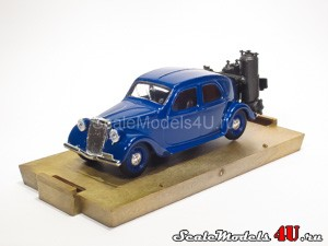 Scale model of Lancia Aprilia Berlina 47 HP Gasogeno (1939) produced by Brumm.
