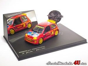 Scale model of Renault Clio Sport Trophy V6 La Gachette #41 L. Luyet (2000) produced by Universal Hobbies.