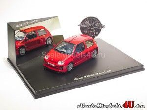 Scale model of Renault Clio Sport V6 Metallic Red (1999) produced by Universal Hobbies.