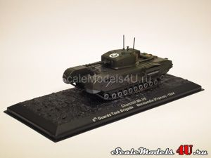 Scale model of Churchill Mk VII. 6th Guards Tank Brigade. Normandie (France) - 1944 produced by Altaya, Atlas, Deagostini.