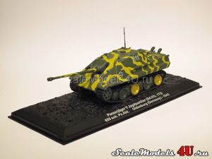 Scale model of Panzerjager V Jagdpanther (Sd.Kfz. 173). 655 sch. Pz.Abt. Oldenburg (Germany) - 1945 produced by Altaya, Atlas, Deagostini.