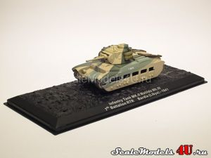 Scale model of Infantry Tank MK.II Matilda Mk.III. 7th Battalion RTR. Bardia (Libya) - 1941 produced by Altaya, Atlas, Deagostini.